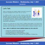 Success Wisdom July 7th, 2021