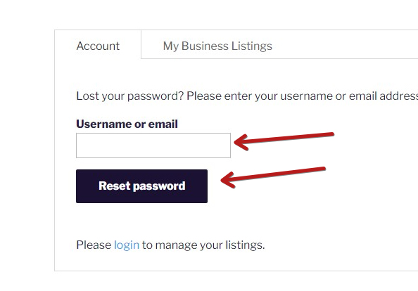 How to recover my Password